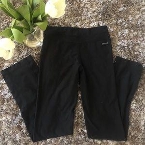 Nike Dri Fit Black Straight Leg Leggings SIze XS